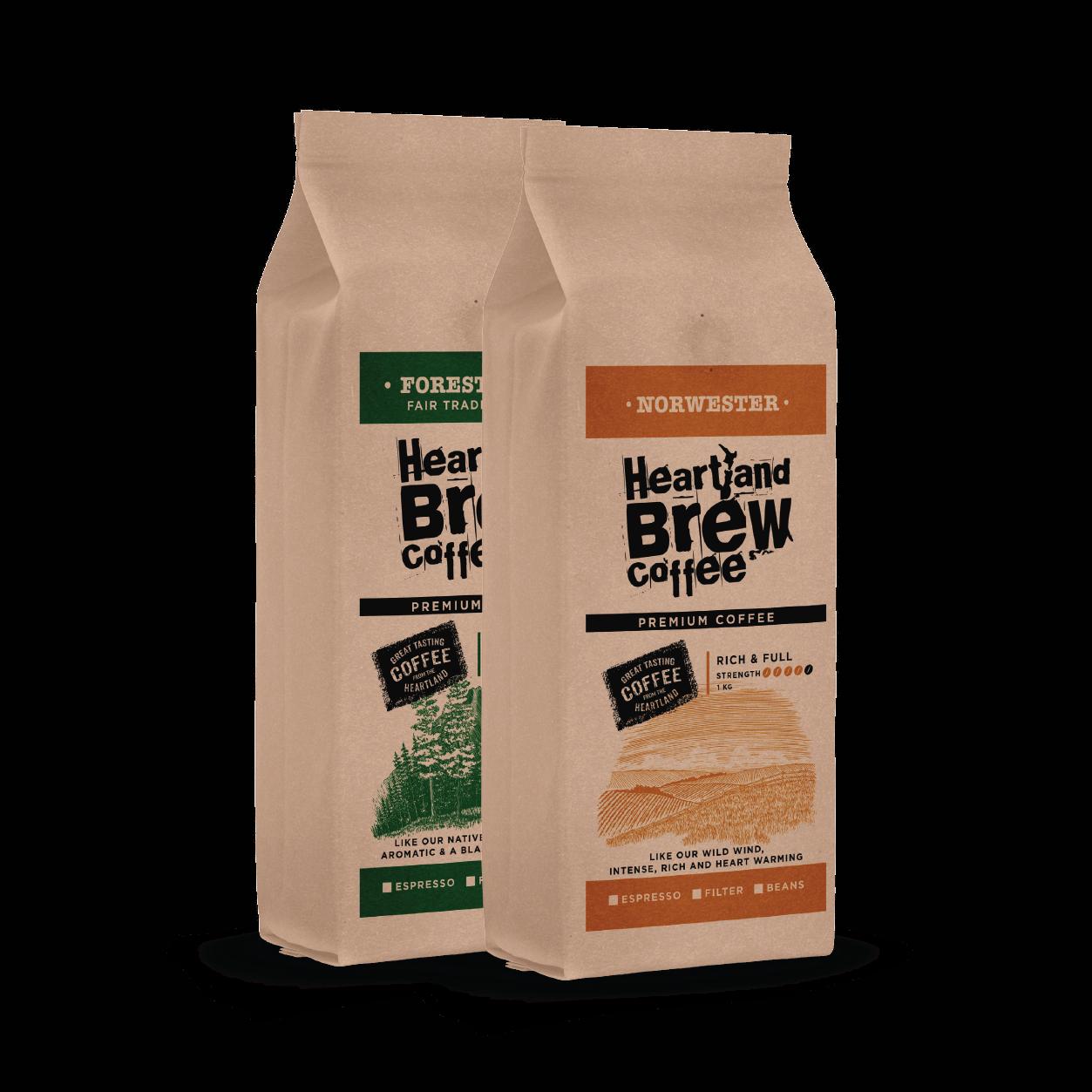 Heartland Brew Coffee Packaging
